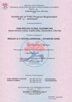 Advanced Certificate