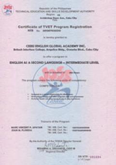 Intermediate Certificate